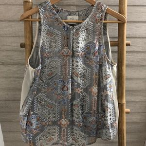 Anthropologie Metallic Blouse by HD in Paris